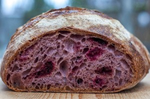 frozen-dried raspberry sourdough