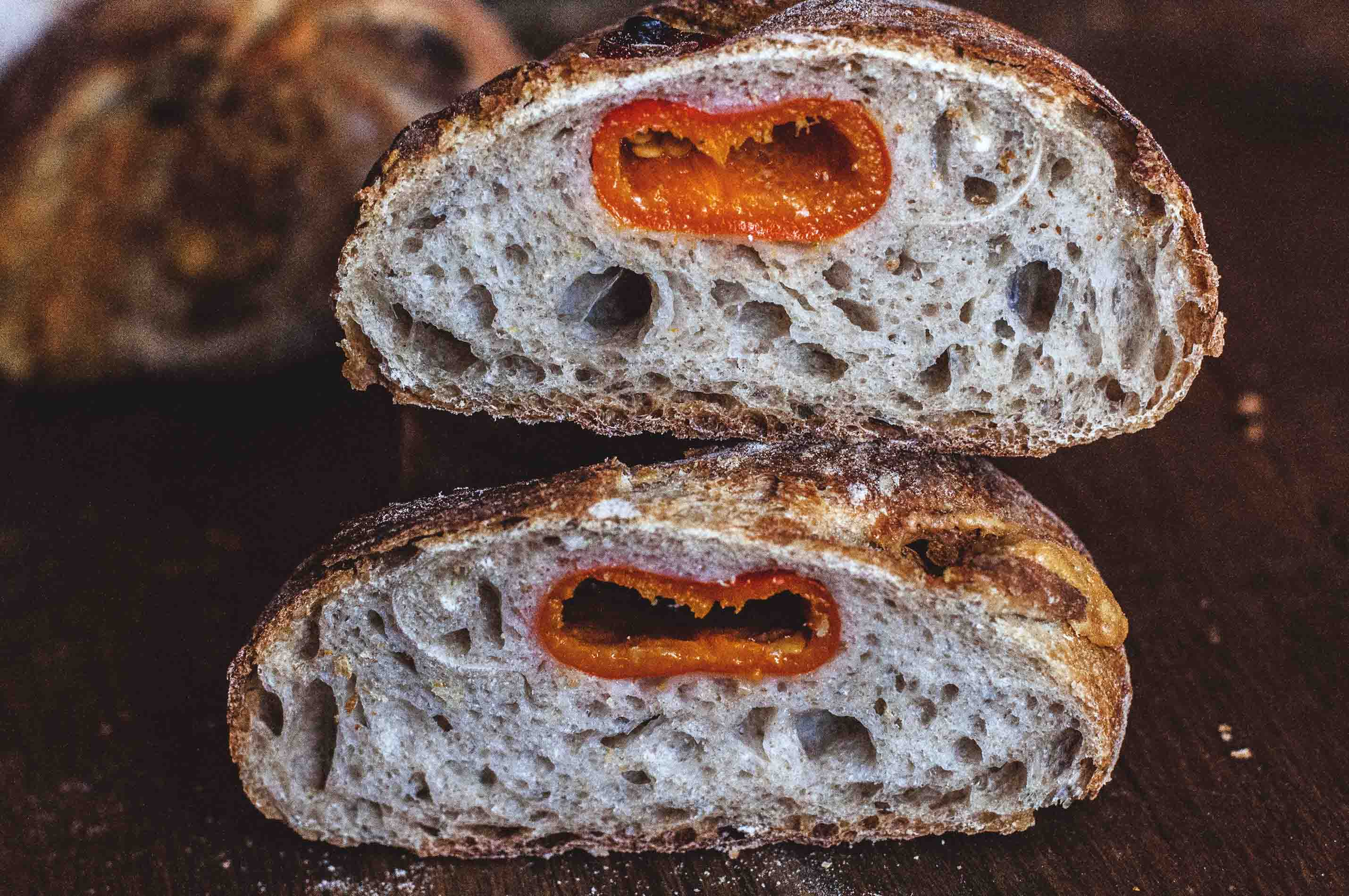 Pepper-Taleggio Sourdough Ciabatta