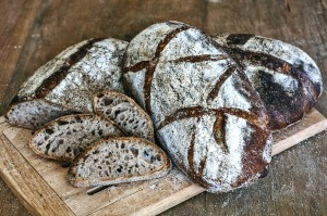 home-milled and home-sifted whole wheat bread